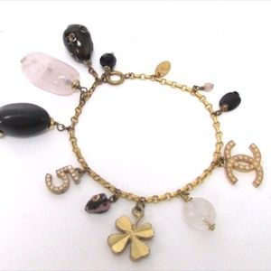 CHANEL Jewelry - Chanel Charms Bracelet w/ CC, No. 5, and Moonstone